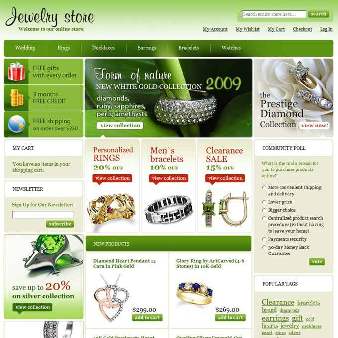珠宝首饰外贸网站建设